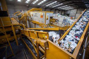 Estación de recogida Kiverco para el reciclaje de residuos
