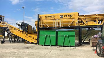 máquina industrial para recoger residuos