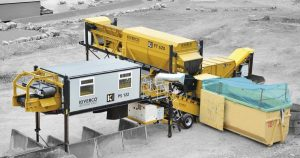 Estación de recogida de residuos sólidos urbanos Kiverco PS 122