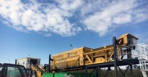 Criba giratoria para planta de residuos
