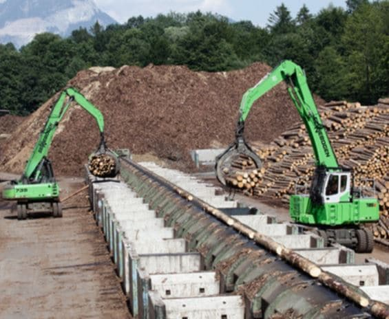 Maquinaria para la manipulación de residuos forestales